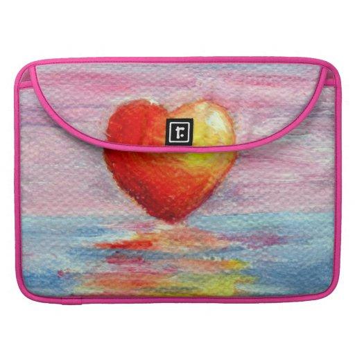 Manga de la aleta de MacBook del corazón del Fundas Macbook Pro