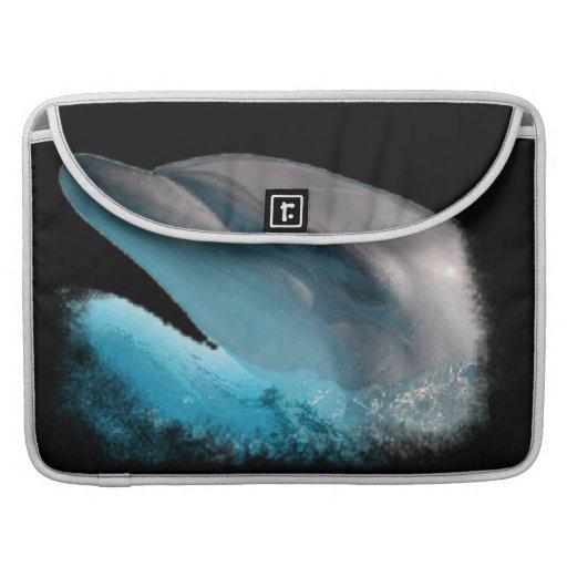 Manga de la aleta del carrito de la nariz del delf fundas macbook pro