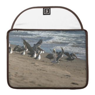 Manga de la aleta del carrito de la playa del pelí fundas macbook pro