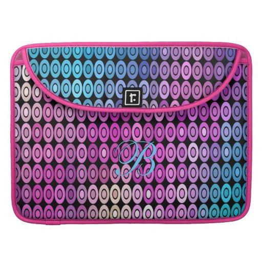 Manga de la aleta del carrito de las púrpuras del  fundas para macbooks