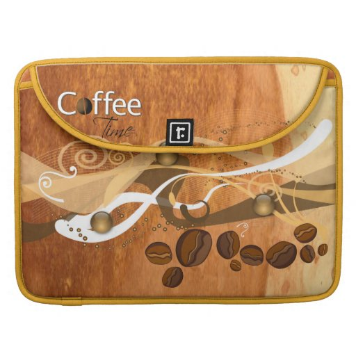 Manga de la aleta del carrito de los granos de caf funda para macbooks