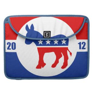 Manga de la aleta del carrito del burro de Demócra Fundas Macbook Pro