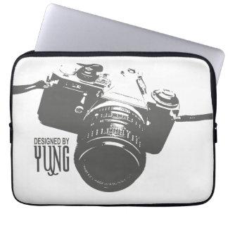 Manga de la caja de la cámara del vintage funda portátil
