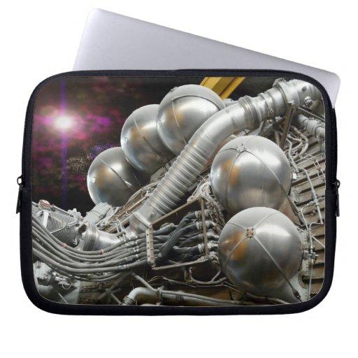 Manga de la electrónica del cohete de Saturn V Fundas Portátiles