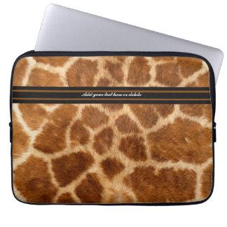 Manga de la piel de la jirafa - personalizar funda computadora