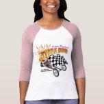Manga de las mujeres de la tolva de Gizzle la 3/4 Camisetas