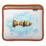 Manga de los pescados del payaso de la acuarela fundas para iPads