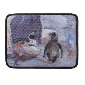 Manga de los pingüinos de la jerarquización funda para macbook pro