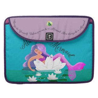 Manga de Macbook de agua de la sirena linda del Fundas Para Macbook Pro