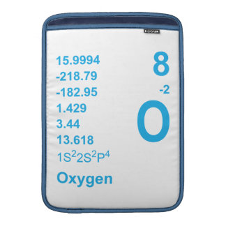 Manga de Macbook del oxígeno azul Funda Macbook Air