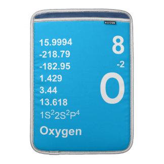 Manga de Macbook del oxígeno (luz en azul) Funda Para Macbook Air