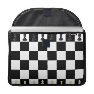 Manga de MacBook del tablero de ajedrez Fundas Macbook Pro