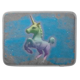 Manga de Macbook del unicornio (nebulosa azul) Funda Para Macbook Pro