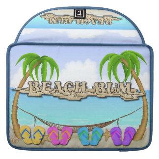 Manga de Macbook del vago de la playa favorable Fundas Para Macbook Pro