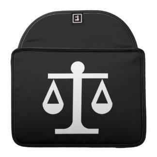 Manga de MacBook Pro del pictograma de la justicia Funda Para Macbook Pro
