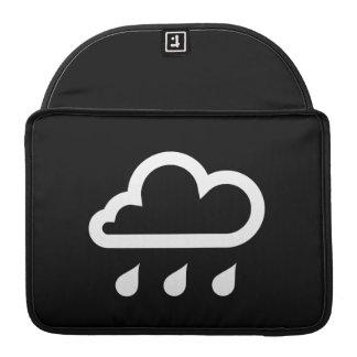 Manga de MacBook Pro del pictograma de la lluvia Fundas Para Macbooks