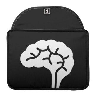 Manga de MacBook Pro del pictograma del cerebro hu Fundas Macbook Pro