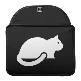 Manga de MacBook Pro del pictograma del gato Fundas Para Macbook Pro