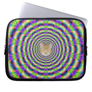 Manga de neón del ordenador portátil del pulso + g fundas computadoras