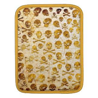 Manga de oro del iPad del pirata de los cráneos Fundas Para iPads