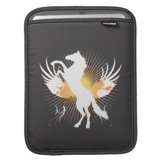 manga del arte abstracto v1 iPod del caballo blanc Fundas Para iPads