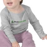 Manga del bebé con nuestro logotipo camisetas