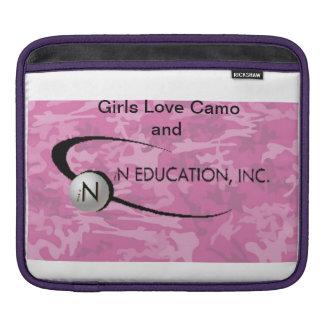 Manga del carrito con en el logotipo de la educaci funda para iPads