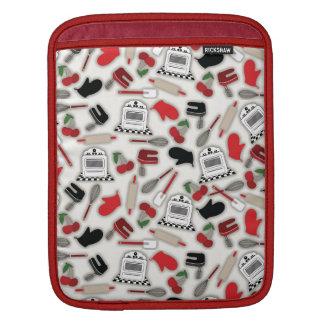 Manga del carrito de la cocina del encanto del vin funda para iPads