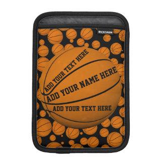 Manga del carrito de los baloncestos fundas de iPad mini