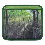 Manga del carrito del bosque de la mañana funda para iPads