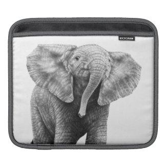 Manga del carrito del elefante del bebé fundas para iPads