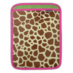 Manga del carrito del estampado de girafa funda para iPads