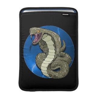 Manga del carrito del relámpago de la cobra funda macbook air