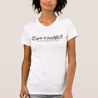 Manga del cortocircuito del jersey de las mujeres camisetas