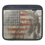 manga del iPad con la estatua de la bandera americ Funda Para iPads