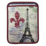Manga del iPad de Francia de la torre Eiffel Fundas Para iPads