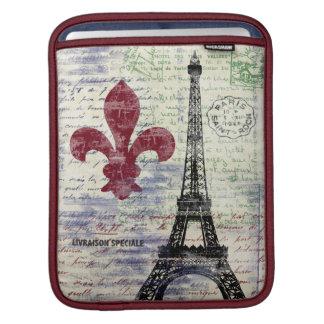 Manga del iPad de Francia de la torre Eiffel Funda Para iPads