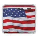 Manga del iPad de la bandera americana Funda Para iPads