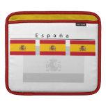 Manga del iPad de la bandera de Espana Funda Para iPads
