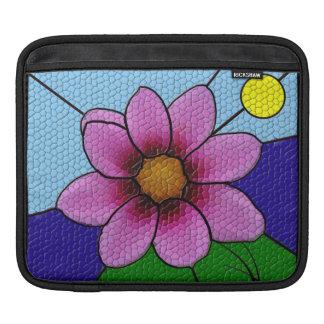 Manga del iPad de la flor del vidrio de mosaico Manga De iPad