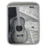 Manga del iPad de la guitarra y de la partitura Fundas Para iPads
