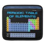 Manga del iPad de la tabla periódica Funda Para iPads
