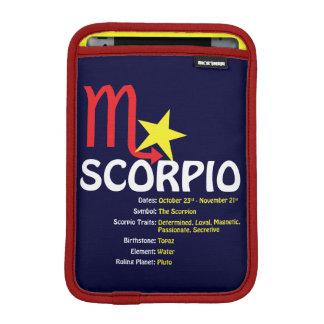 Manga del iPad de los rasgos del escorpión Fundas De iPad Mini