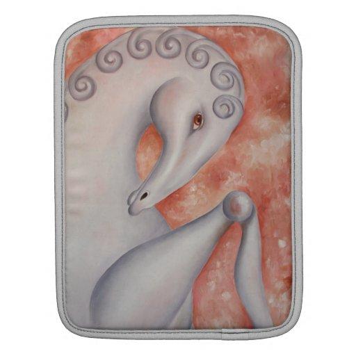 Manga del iPad del arte del caballo blanco Funda Para iPads