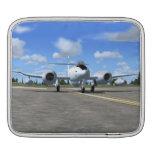 Manga del iPad del avión de caza a reacción del me Fundas Para iPads