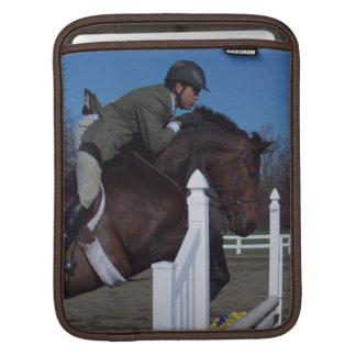 Manga del iPad del caballo del puente del cazador Funda Para iPads