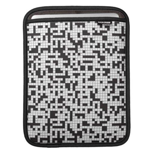 Manga del iPad del crucigrama Funda Para iPads