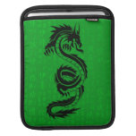 Manga del iPad del dragón verde Funda Para iPads
