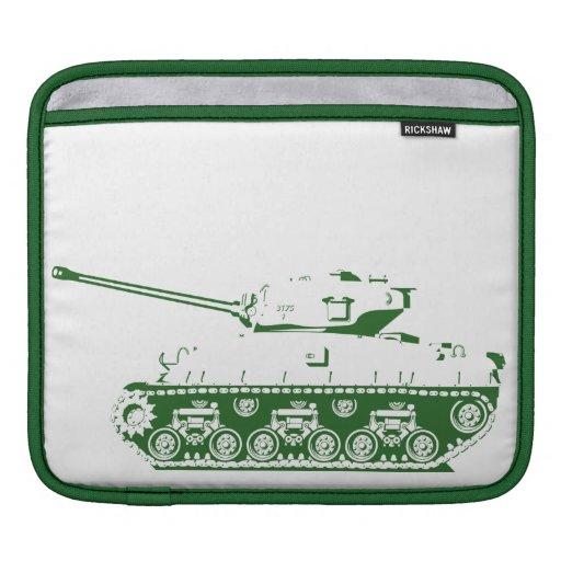 Manga del iPad del tanque (verde) Funda Para iPads