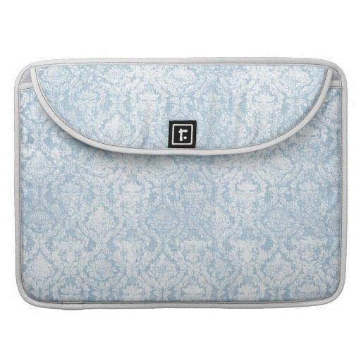 manga del macbook azul claro del damasco del vinta funda para macbook pro